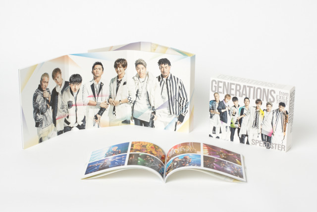 GENERATIONS from EXILE TRIBEの3rd ALBUM『SPEEDSTER』の商品画像 初回限定盤